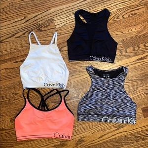 Women's lot of 4 Calvin Klein sports bras